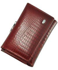Кожаный кошелек AE-617 красный