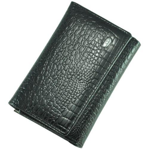Кожаный кошелек AE-617 черный