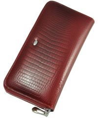 Кожаный кошелек AE201 красный