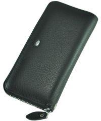 Кожаный кошелек ST38 черный