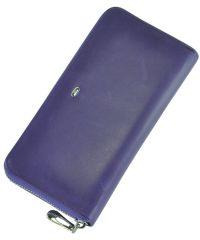 Кожаный кошелек ST201 фиолетовый