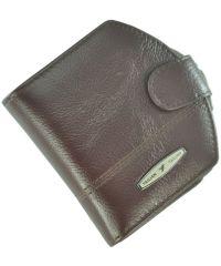 Кожаный кошелек T704D-12H09-B бордовый