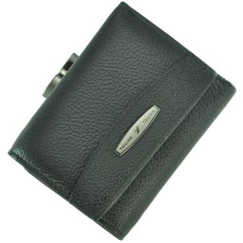 Кожаный кошелек T707-3H09-B черный