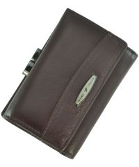 Кожаный кошелек T726-3H09-B бордовый