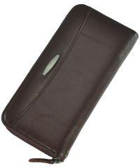 Кожаный кошелек T924-3H09-B бордовый