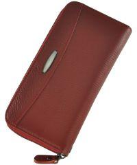 Кожаный кошелек T924-3H09-B красный