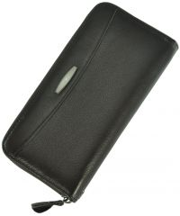 Кожаный кошелек T924-3H09-B коричневый