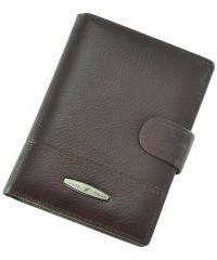 Кожаный кошелек T227D-12H09-B бордовый