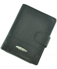 Кожаный кошелек T265D-12H09-B черный