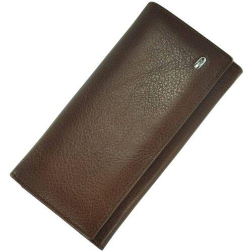 Женский кожаный кошелек ST634 коричневый