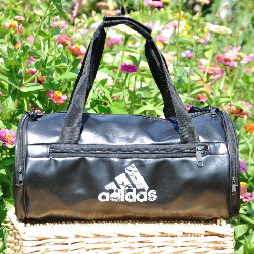 Спортивная сумка Adidas Tuba черная с белым