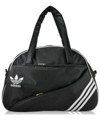 Спортивная сумка Diagonal черная с белым