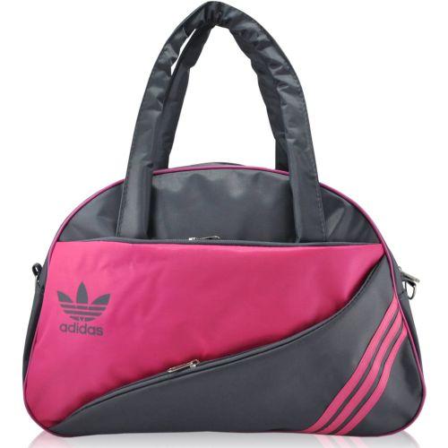 Спортивная сумка Adidas Diagonal серая с малиновым