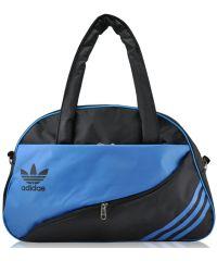 Спортивная сумка Diagonal черная с синим