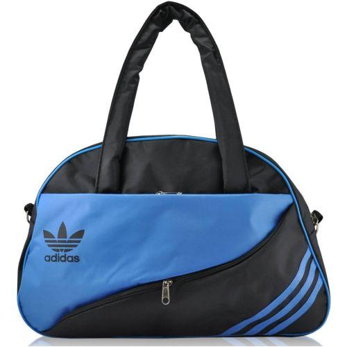 Спортивная сумка Adidas Diagonal черная с синим