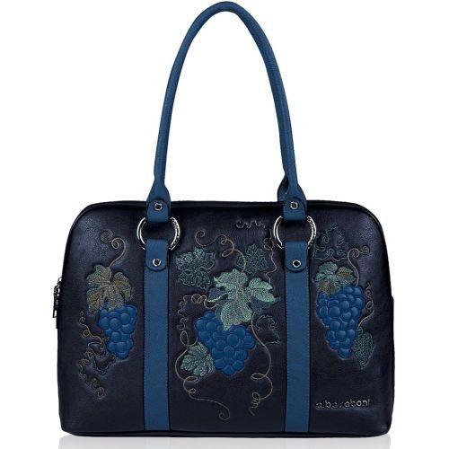Женская сумка Alba Soboni 141473 черная с синим