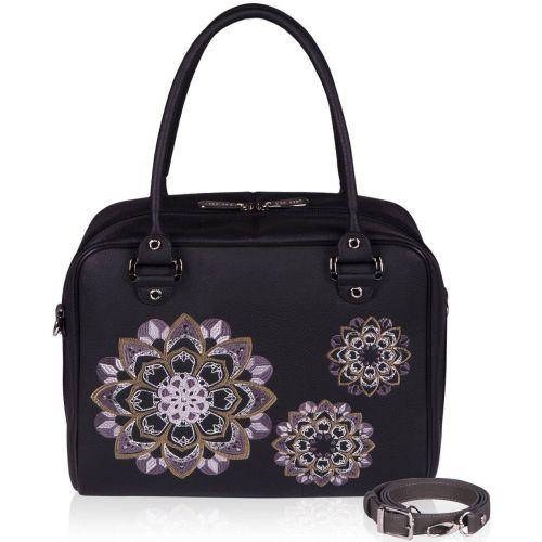 Женская сумка Alba Soboni 152462 черная с серым