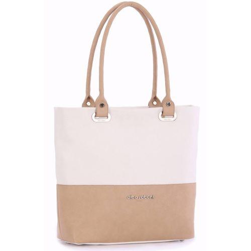 Женская сумка Alba Soboni 160021 белая с бежевым