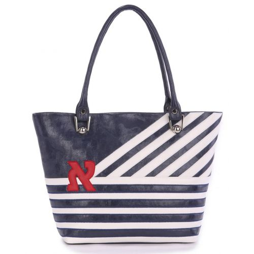 Женская сумка Alba Soboni 160053 синяя с белым