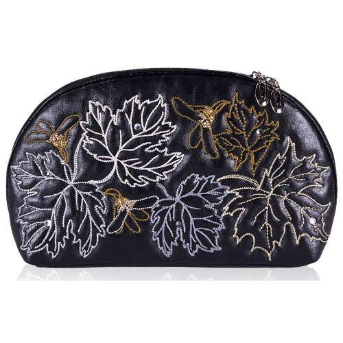 Косметичка Alba Soboni 210 листья черная