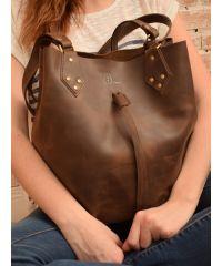 Сумка-мешок 883251 коричневая