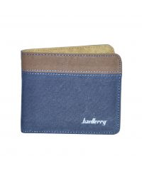 Мужской кошелек Baellerry Jeans Mini синий с рыжим