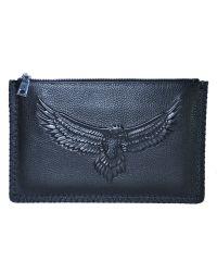 Кожаный клатч Beallerry Eagle черный