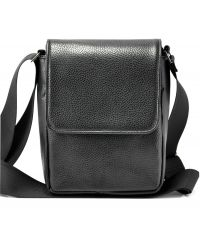 Мужская сумка M56 кожаная черная