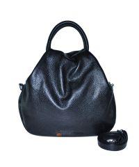 Кожаная сумка Basket черная