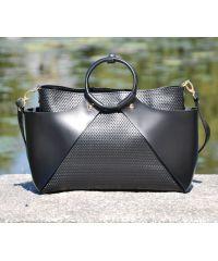 Кожаная сумка 10710013/11 черная