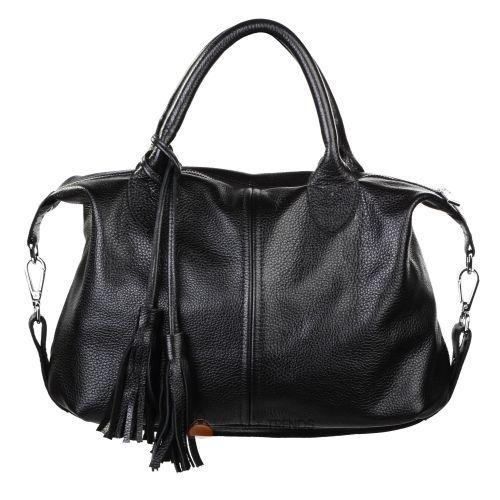 Женская кожаная сумка Барселона черная
