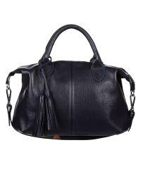 Женская кожаная сумка Барселона синяя