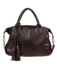 Женская кожаная сумка Барселона шоколадная
