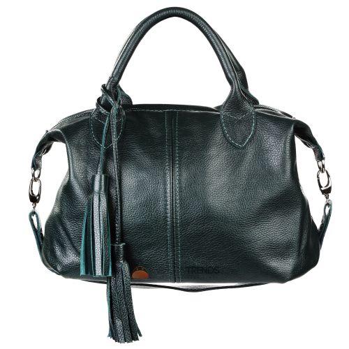 Женская кожаная сумка Барселона зеленая