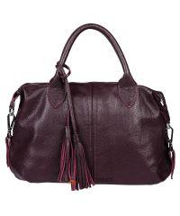 Женская кожаная сумка Барселона виноградная
