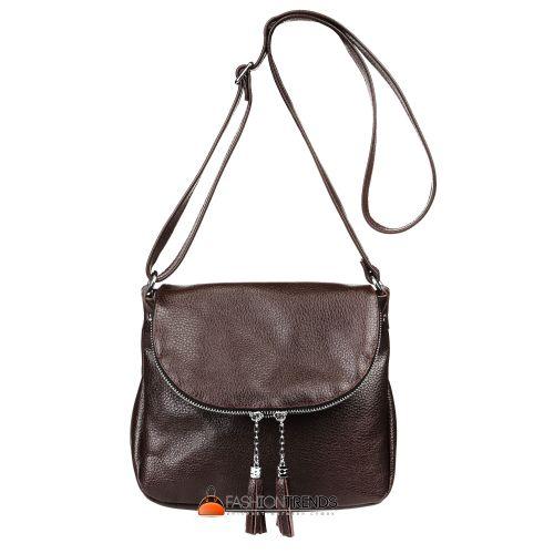 Кожаная сумка Lorenza шоколадная