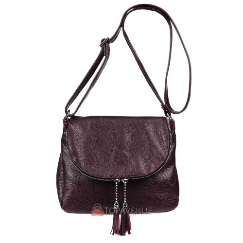 Кожаная сумка Lorenza виноградная