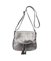 Кожаная сумка Lorenza никель