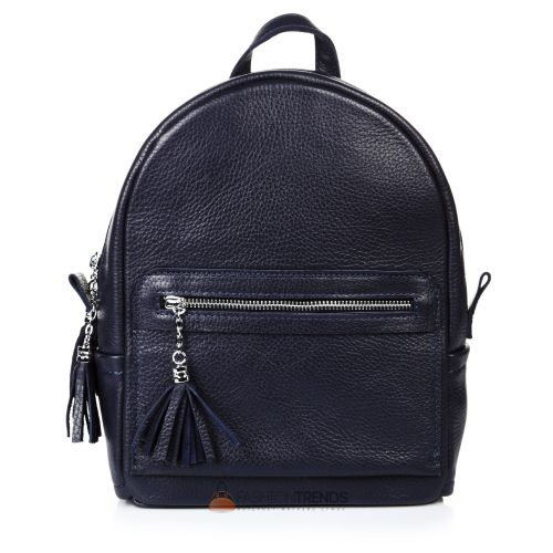 Кожаный рюкзак Meri синий