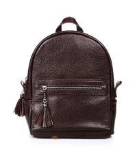 Кожаный рюкзак Meri шоколадный
