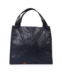 Кожаная сумка Mesho темно-синяя