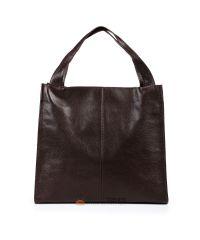 Кожаная сумка Mesho шоколадная