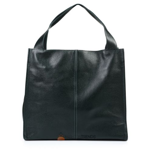 Кожаная сумка Mesho темно-зеленая
