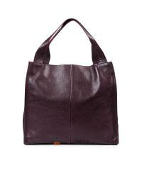 Кожаная сумка Mesho виноградная