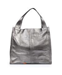 Кожаная сумка Mesho никель