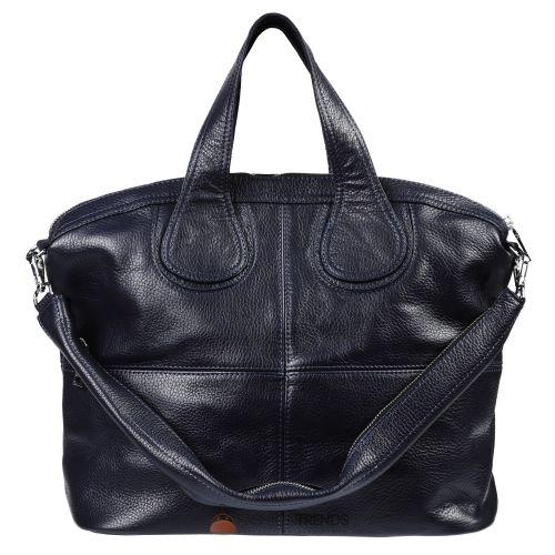 Женская кожаная сумка Nightingale темно-синяя