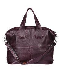 Женская кожаная сумка Nightingale виноградная