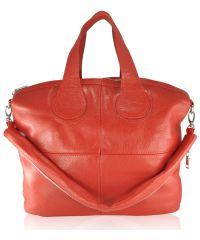Женская кожаная сумка Nightingale красная