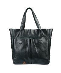 Кожаная сумка с карманами зеленая