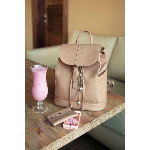 Кожаный рюкзак Олсен крем-брюле BN-BAG-13-crem-brule